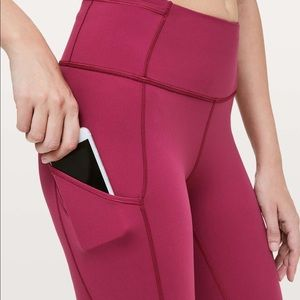 Lululemon Extreme Crop Capri in Star Ruby Color